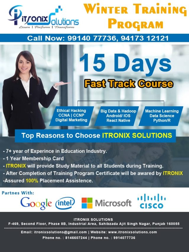 Best Industrial Training in Mohali|Chandigarh