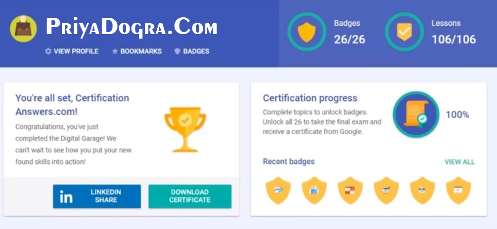 Google Digital Unlocked Final Exam Answers Latest 2020  Google Digital Garage Answers  Google Digital Unlocked Answers  Free Google Digital Marketing Certificate