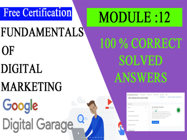 Google Digital Unlocked-Lesson 12 Get noticed with social media exam answers
