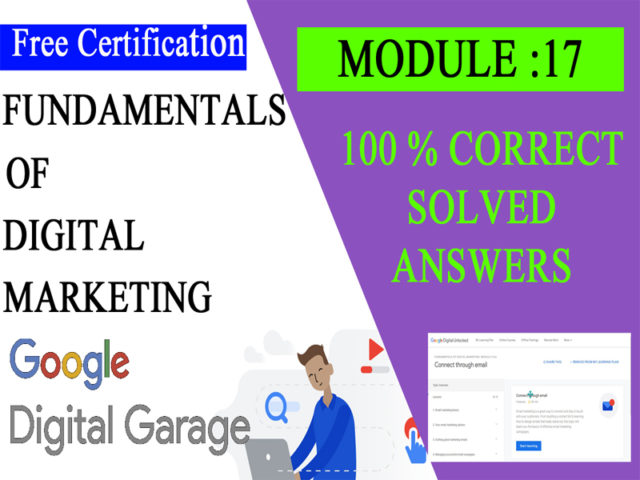 Google Digital Unlocked-Lesson 17 Connect through email exam answers