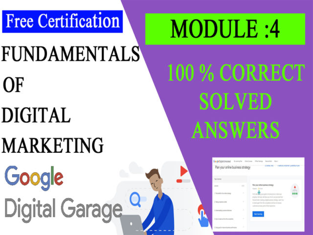 Google Digital Unlocked-Lesson 4 Plan your online business strategy exam answers