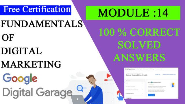 Google digital Garage lesson 14 answers