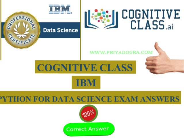 Cognitive Class IBM Python for Data Science Exam Answers 2020