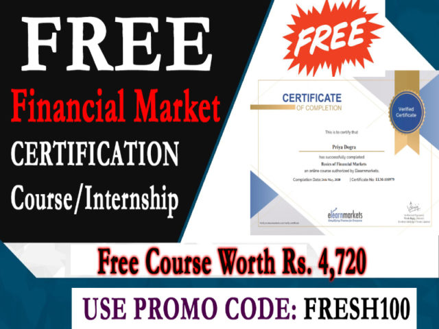 Financial Market Free Course with Certificate - Stock Market Free Course Certificate - Internship