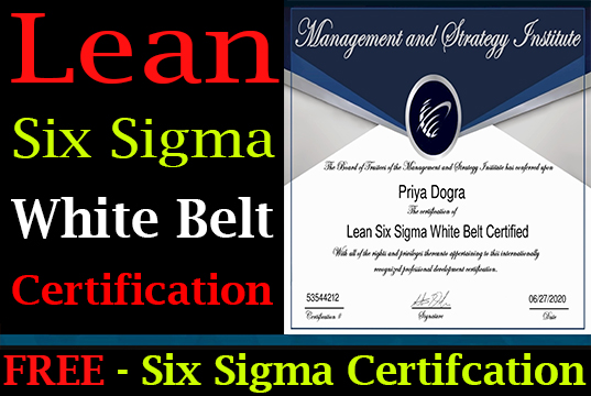 Free Six Sigma Certification