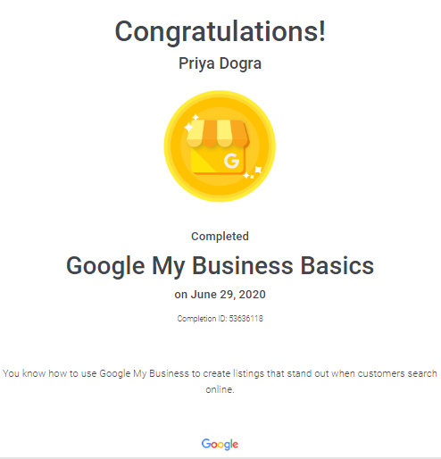 Google My Business Basics Assessment Answers 2020