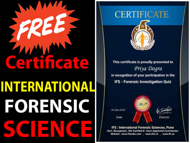 International Forensic Science Certificate - IFS