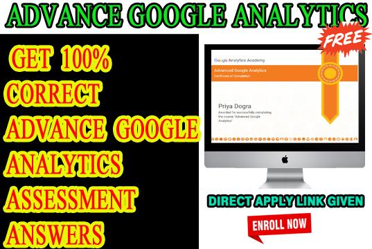 Advance Google analytics CERTIFICATION