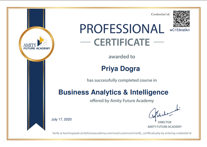 Business Analytics & Intelligence Free Course with Certificate