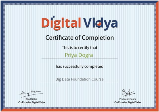 Free Big Data Course with Certificate - Digital Vidya