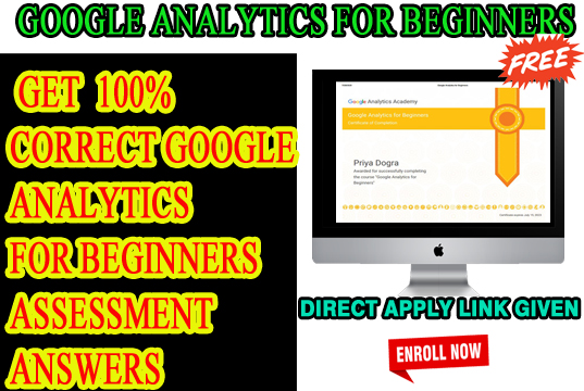 Google Analytics for Beginners assessment answers