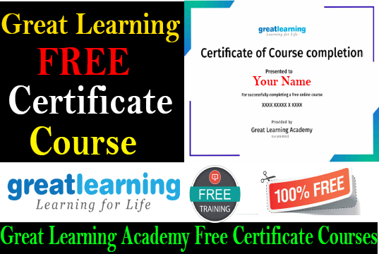 Great Learning Academy Free Certificate Courses free