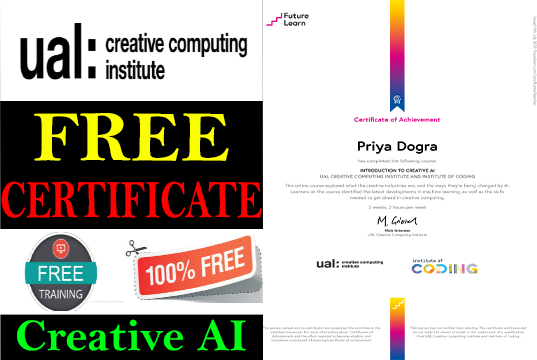 Introduction to Creative Artificail Intelligence Free Certificate