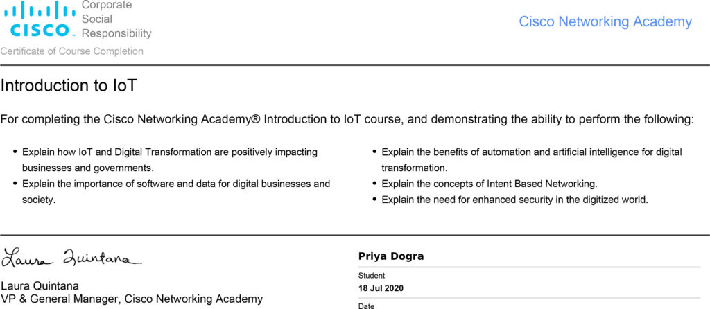 IoT - Internet of Things Free Course with Certificate