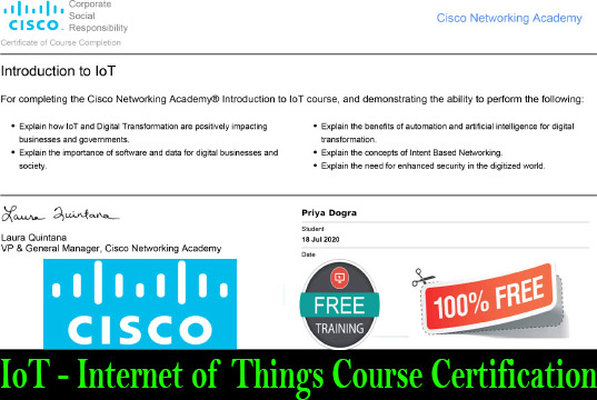 IoT - Internet of Things Free Course with Certification cisco