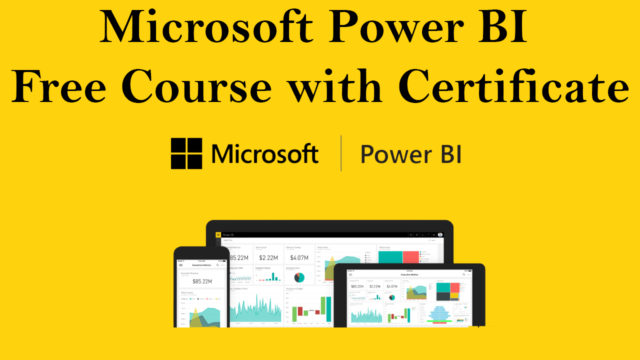 Microsoft Power BI Free Course with Certificate