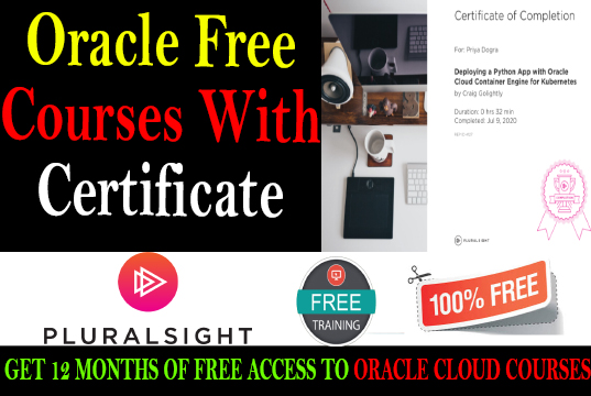 Oracle free Certification Courses oracle cloud