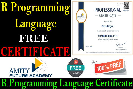 R Programming Language Free Course With Certificate