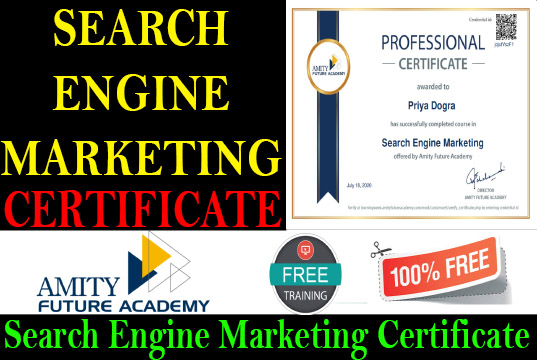 Search Engine Marketing Free Course with Certificate Priya Dogra