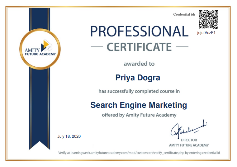 Search Engine Marketing Free Course with Certificate