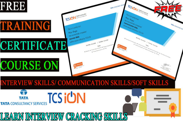 free interview skills communication skills certificate