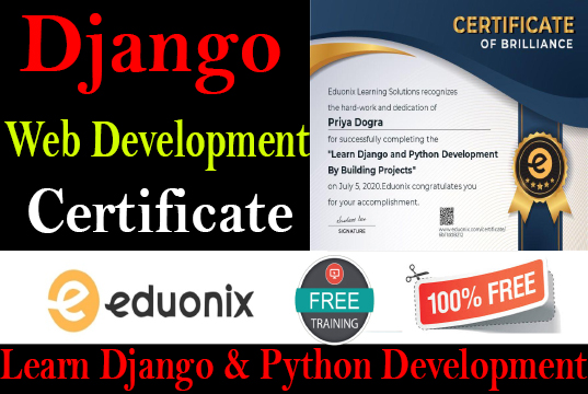 python with django free online course with certificate web development