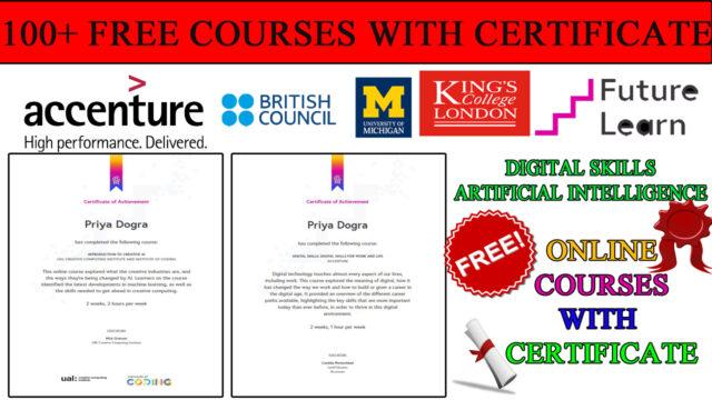 ACCENTURE free certificate