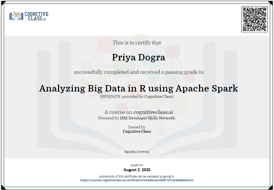 Analyzing Big Data in R using Apache Spark Cognitive Class Answers