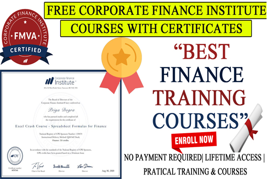 CFI Free excel Course