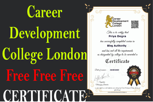 Career Development College London Free Online Course with Certification