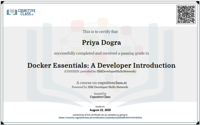 Docker Essentials A Developer Introduction Cognitive Class Answers