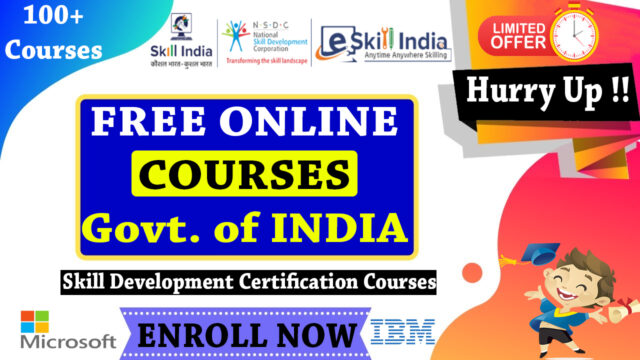 E Skill India NSDC Free Online Courses with Certificate - Govt of India Skill Development Courses
