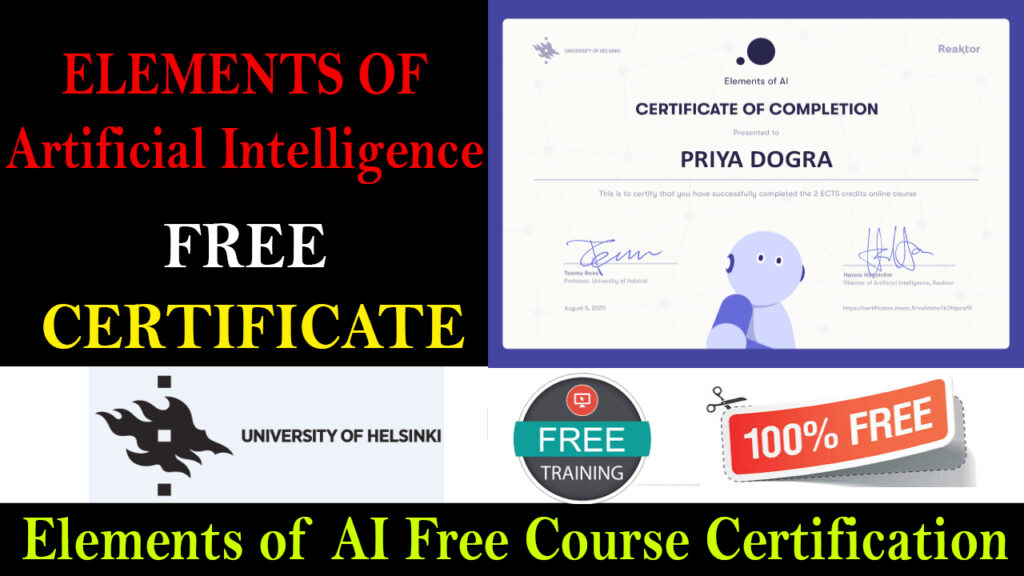 Elements of AI Free Course With Certificate Answers