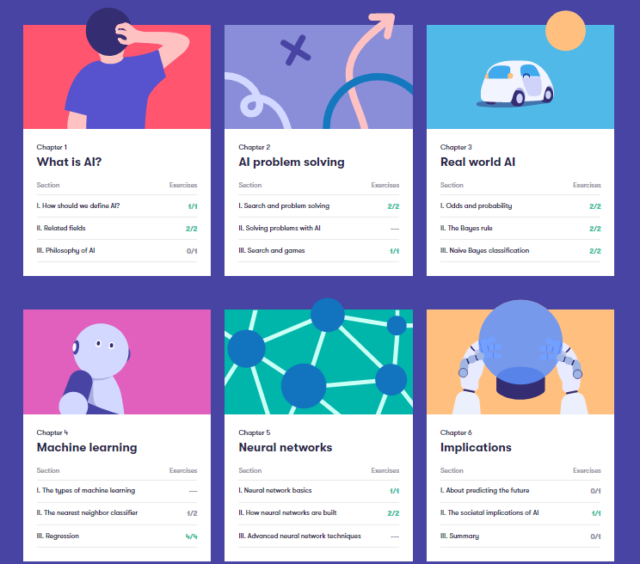 Elements of AI free online course exercise answers