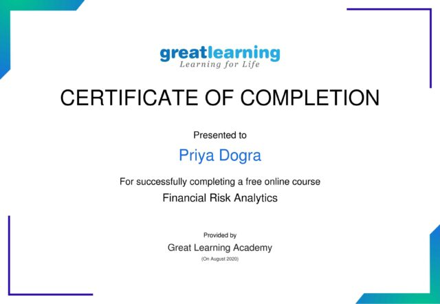 great learning free certificate