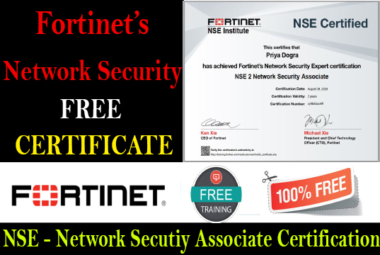 Fortinet NSE Institute - Network Security Associate Free Certification
