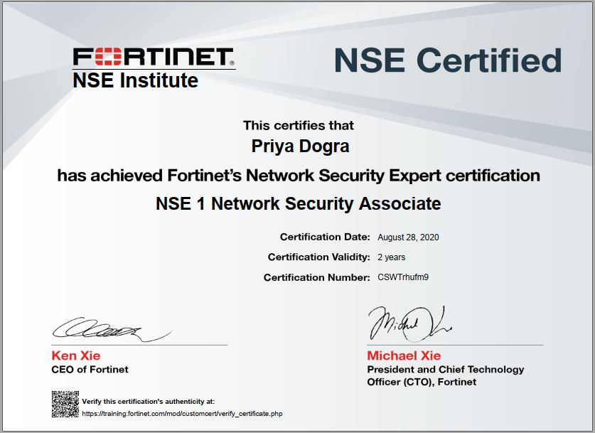 network security certification associate fortinet nse institute secutity expert