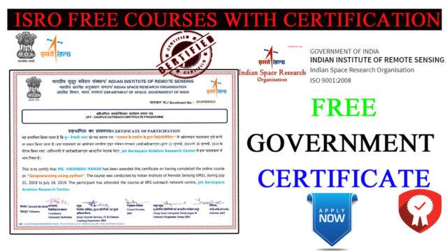ISRO FREE CERTIFICATE