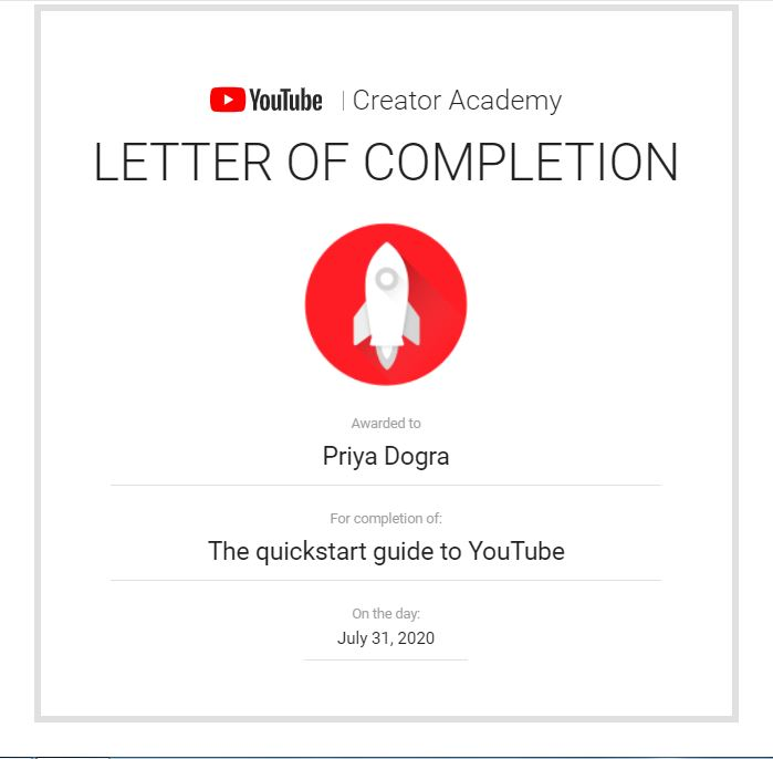 FREE YOUTUBE CERTIFICATIONS