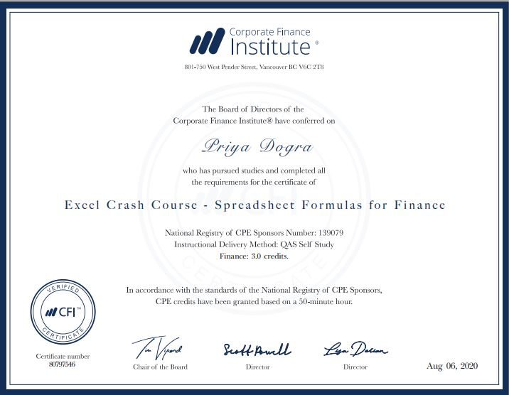 CFI free courses |Corporate Finance Institute Certificate|Free Online course with certificate