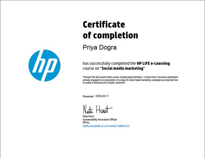 free hp courses