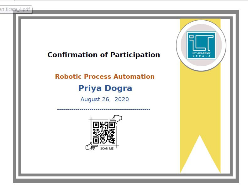 ROBOTIC PROCESS AUTOMATION FREE CERTIFICATE