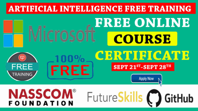 ARTIFICIAL INTELLIGENCE FREE TRAINING FROM MICROSOFT