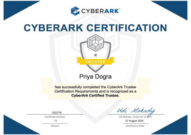 Cyberark Certification - CyberArk Certified Trustee