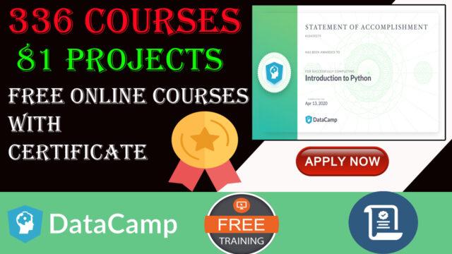 datacamp free certification