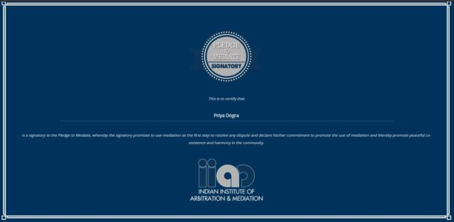Indian Institute of Arbitration & Mediation Free Certificate
