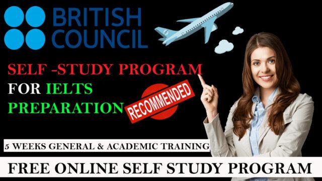 SELF STUDY PROGRAM BY BRITISH COUNCIL