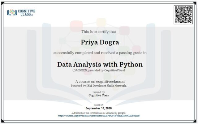 data analysis with python cognitive class answers