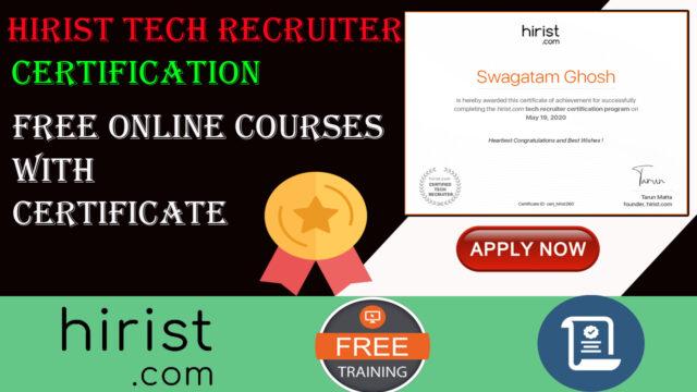 hirist tech recruiter certification