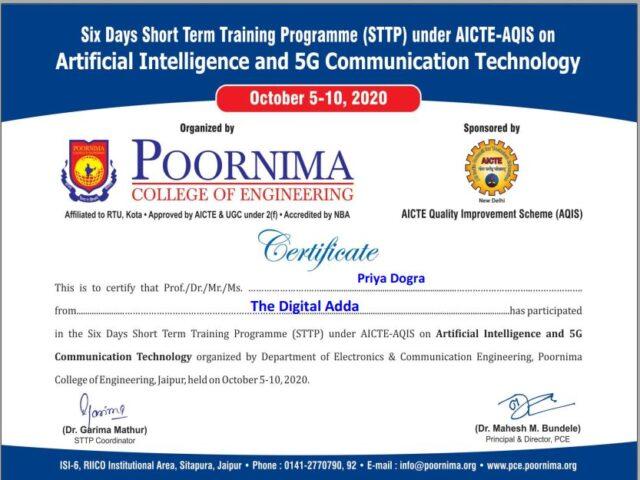 free AI certificate